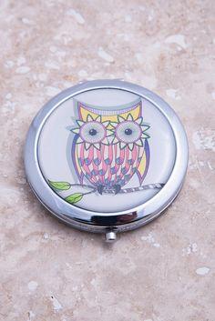 Owl Compact Mirror