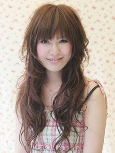 最新时尚发型盘点长发淑女 圆脸长直发发型设计