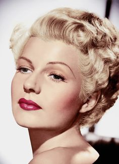 Make up inspiration:  Rita Hayworth again.  Stumbled on this looking for hair ideas.  The pink is so pretty.