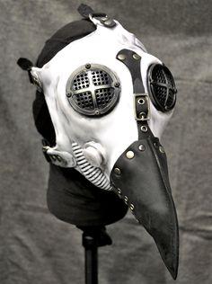 Masque à gaz steampunk intégral 'plague doctor'
