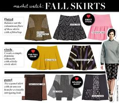 skirt breakdown for Fall 2012, modified from original [by me] | from BlondiesLipstick dotcom blog reporting on posting on WhoWhatWear dotcom ???