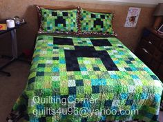Finished my sons minecraft quilt