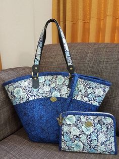 This bags is made from fabric 100% cotton Designed for market bag its have 2 piece big one and small one Size: Big one high : 34 cm Wide: 54 cm Small one. High : 16 cm Wide: 24 cm