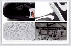 NIKE AIR FORCE 1 LOW 488298-092 NK AF1NK BLK/WH TMEN SHOES