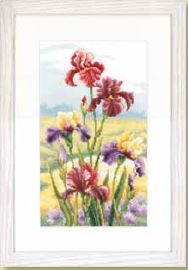 click here to view larger image of Irises at Dawn (counted cross stitch kit)