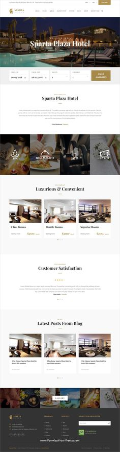 Sparta is clean and modern design responsive #HTML5 bootstrap template for #hotel and #resort beautiful #website to live preview & download click on image or Visit