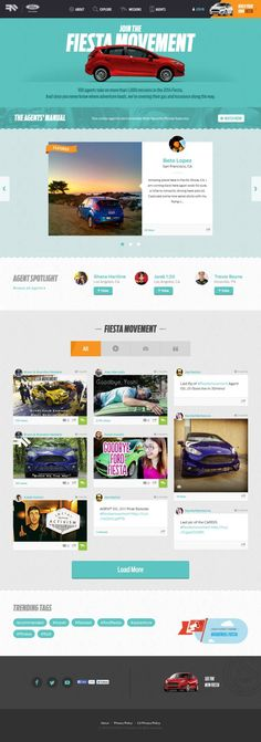 Fiesta Movement by Ford – Webdesign inspiration