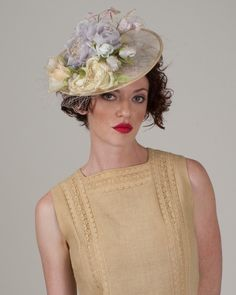 9327WYPY Whimsy, natural with lavender  – Louise Green Millinery