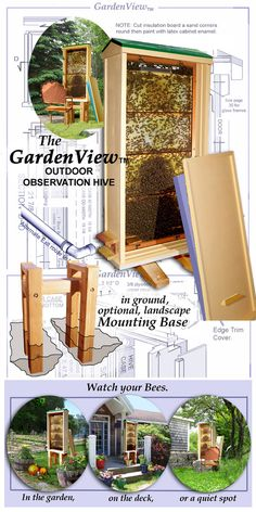 Honey bee observation hives., Bonterra Bees observation bee hives GardenView Model