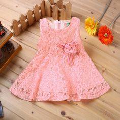 $5.19 (Buy here: https://alitems.com/g/1e8d114494ebda23ff8b16525dc3e8/?i=5&ulp=https%3A%2F%2Fwww.aliexpress.com%2Fitem%2FFashion-2014-Summer-New-girls-kids-Children-noble-fairy-bow-princess-lace-dress-high-quality%2F32254729493.html ) Summer 2016 Brand Baby Dresses Girl Princess Dress Flower Toddler Infant Newborn Baby Girls Party Wedding Dress Baby Lace Dress for just $5.19