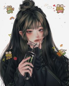 Dark Anime Girl, Anime Girl Hot, Manga Girl, Anime Art Girl, Digital Art Anime, Digital Art Girl, Pretty Art, Cute Art, Anime Couples Drawings