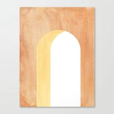 Buy Terracotta arch Canvas Print by whalesway. Worldwide shipping available at Society6.com. Just one of millions of high quality products available. Orange Home Decor, Orange House, Burnt Orange Color, Nail Holes, House Colors, Terracotta, Home And Living, Arch, Canvas Prints