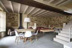 Cute Home Decor Renovated Stone House in Spain Fluidly Blends the Old with the New.Cute Home Decor Renovated Stone House in Spain Fluidly Blends the Old with the New