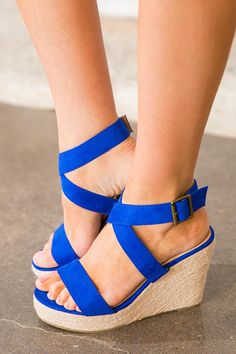 10 Best Blue wedges images | Wedges, Blue wedges, Me too shoes