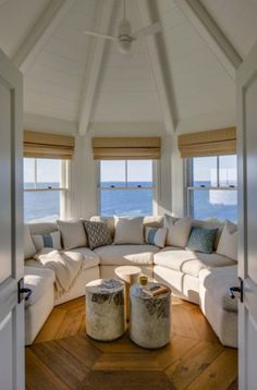 Cape Cod Beach House- Perfect colors but needs a aqua blue on the walls with white trim