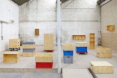 Revalued by Labt - Storage Furniture See also: 26 Modular Storage Cube Systems Multipurpose Furniture, Multifunctional Furniture, Modular Storage, Cube Storage, Home Office Furniture, Furniture Design, Cubes, Small Office Desk, Modular Design