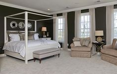 Master bedroom for the Graye model @IntegrityHomes www.willowsford.com