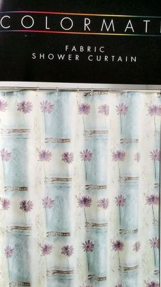 Colormate Fabric Shower Curtain Lavender Floral