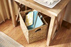 So smart! Use this basket to store trinkets in the family room to keep them out of sight.