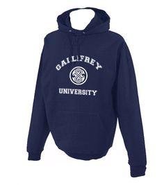 Gallifrey University doctor who Hoodie S to 2XL Gildan Hooded Sweatshirt. $38.50, via Etsy.