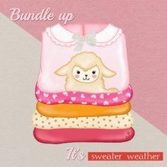 Hippe en originele beterschapskaart van een gezellige stapel winterse truien in knusse kleuren. Design: TalesbyJasmijn. Te vinden op: www.kaartje2go.nl