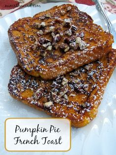 This tasty breakfast treat will have your taste buds begging for more!  Pumpkin Pie French Toast is a mild version of Pumpkin Pie and oh soo good!  Whip some up this weekend!