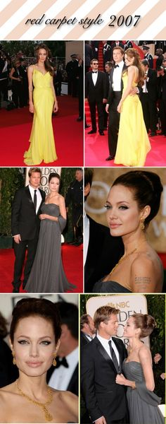 Angelina Jolie red carpet style - 2007