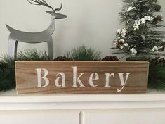 Modern rustic wood home decor. Bakery sign, reclaimed wood bakery sign, modern farmhouse bakery sign, shabby chic bakery sign, cottage chic bakery sign