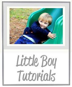 Little boy tutorials by Me Sew Crazy