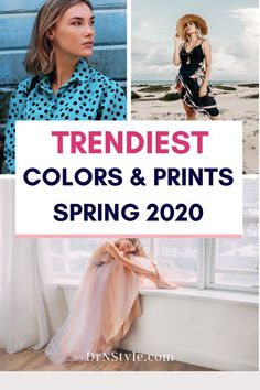 Want to know what colors are trending for women this season?  Look no further! These are the hottest new prints and colors for your awesome spring outfits! #summer #colour #colortrends #colortrendsfashionSS #springoutfits2020 #springoutfits2020trends #instyle2020