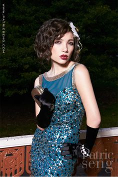 """Roaring Twenties"" latest fashion editorial shoot, goto www.patricseng.com to see more editorial shots"