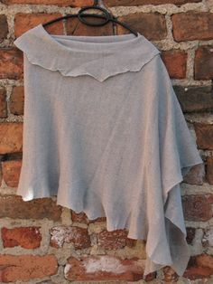 Linen scarf/shawl in pigeon gray, on Coloredworld etsy