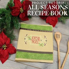 Beautiful homemade recipe book tutorial from Embroidery Library.