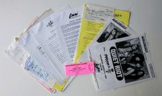Quiet Riot Concert Contract Piece Of Music, Concert Tickets, Pittsburgh Pa, Guest List, The Originals