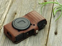Photo1: Leather Camera Body Suit [for RICOH GRII]