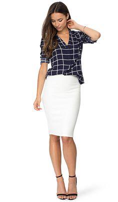 Блузка с юбкой карандаш – советы по созданию комплекта