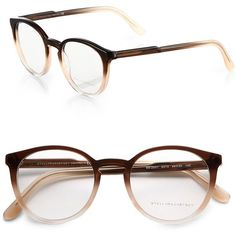 Stella McCartney Round Optical Glasses ($230) ❤ liked on Polyvore featuring accessories, eyewear, eyeglasses, glasses, fillers, apparel & accessories, brown, stella mccartney glasses, round eyeglasses and lens glasses
