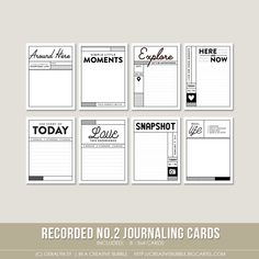 This set of eight digital journaling cards is perfect for pocket page protectors, scrapbooking and mini-books. Included in this set are…