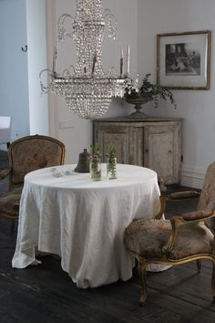 Elegant French dining space