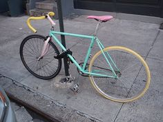 Pastel bicycle
