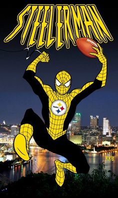 Steelers Spidey---and now all of my dreams have come true.