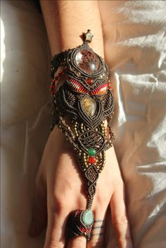 Boho Accessories Bracelet, Cuff - #gipsy #ethno #indian #bohemian #boho #fashion #indie