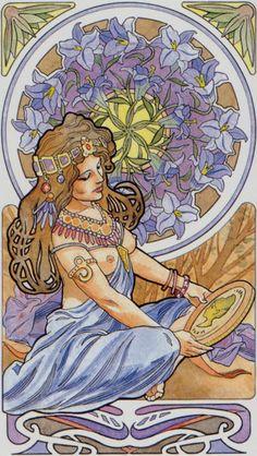 AN- Scheiben 13 - Königin - Art Nouveau Tarot / Primavera Tarot by Antonella Castelli