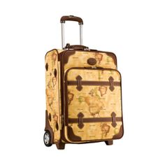 Genuine Pierre Cardin Columbus World Map Luggage Carry-On Travel Bag / 21 inch