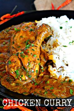 Chicken Curry Indian Chicken Recipes, Indian Food Recipes, Asian Recipes, Easy Chicken Curry, Tandoori Chicken, Healthy Chicken, Jamaican Curry Chicken, Recipe Of Chicken Curry, Indian Chicken Curry