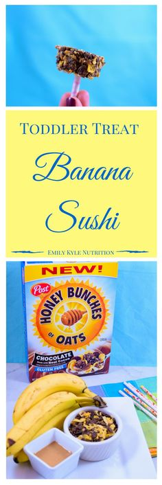 Banana Sushi - The best treat for a toddler!! #HealthySnack @EmKyleNutrition #ad