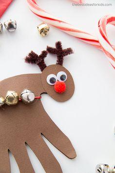 Reindeer Handprint Card