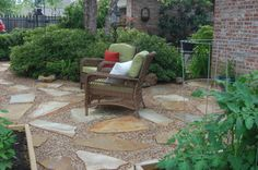Flagstone and Pea Gravel Patio | Patio Addition - Patios & Deck Designs - Decorating Ideas - HGTV ...