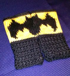 Check out this item in my Etsy shop https://www.etsy.com/listing/502049697/fingerless-gloves-wrist-warmers-batman