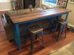 Rustic Home Decor Ana White DIY Shanty 2 Chic Rustic Shabby Chic DIY Kitchen Island Rustic Kitchen Reclaimed Wood Salvaged Wood Breakfast Bar X Brace Shabby Chic Kitchen, Shabby Chic Homes, Rustic Kitchen, Bar Kitchen, Kitchen Ideas, Bar Table Diy, Bar Tables, Wood Table, Wood Desk